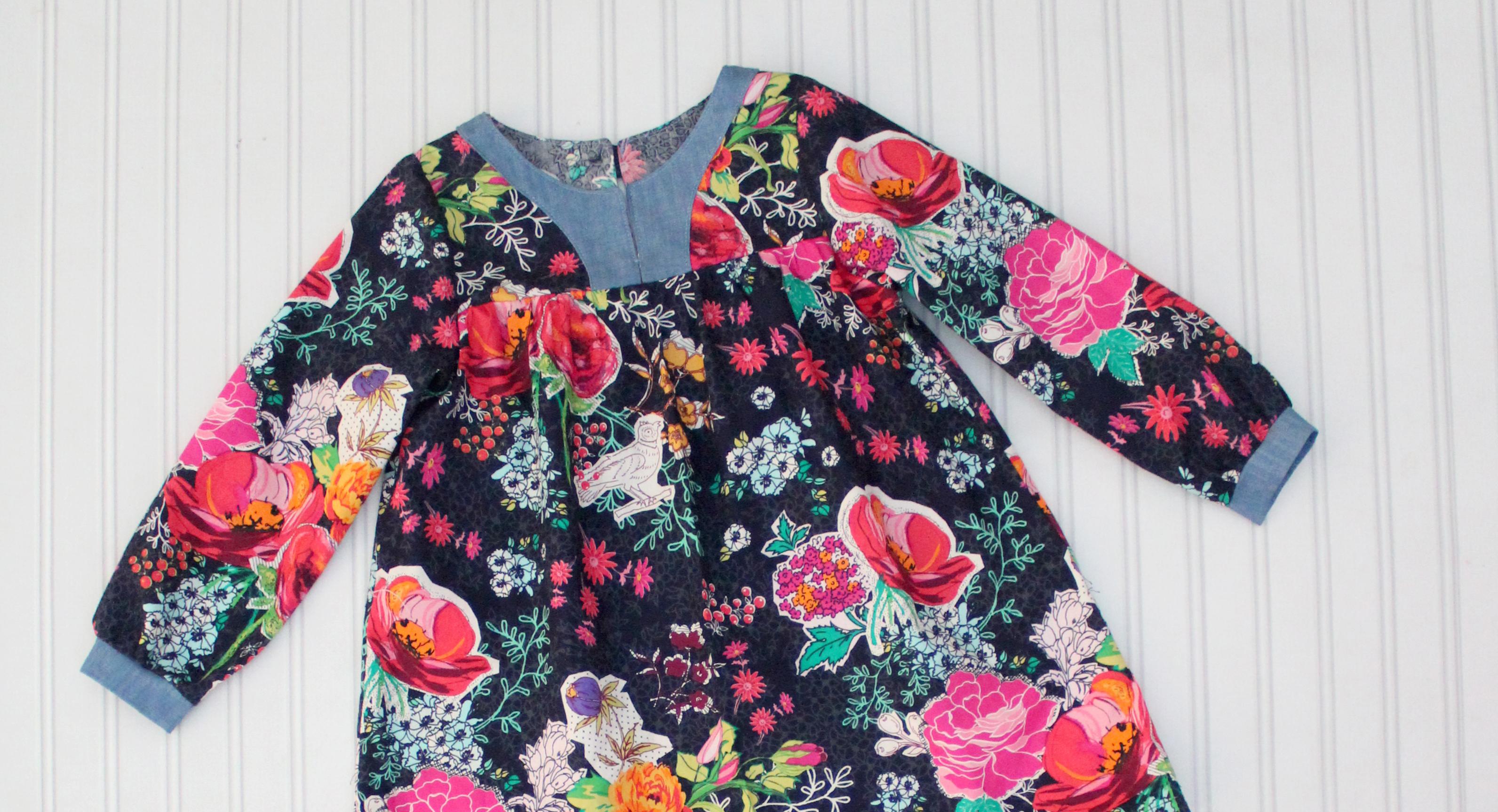The Boho Tunic and Dress PDF Pattern by Peach Patterns sewn by Candice Ayala