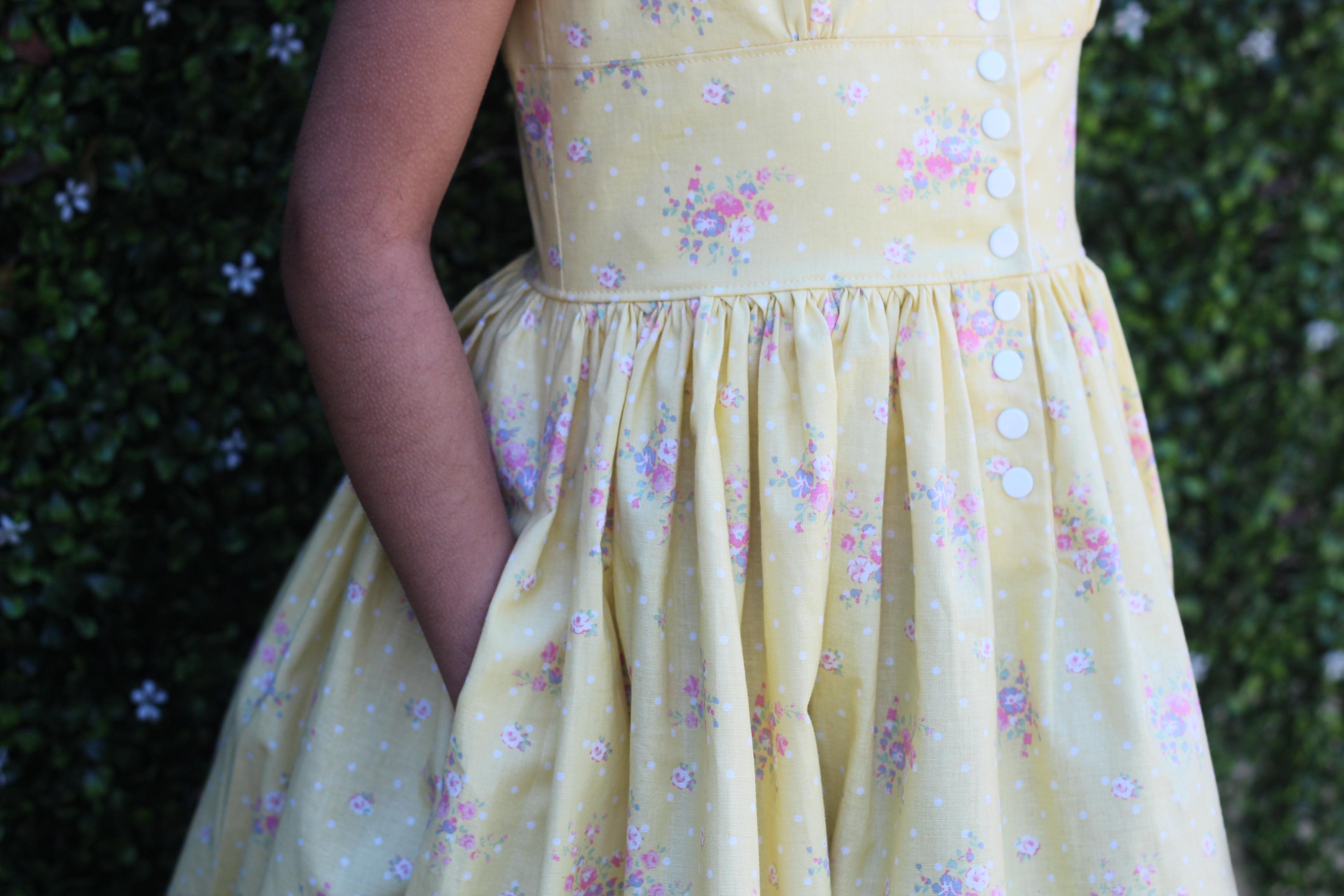 Girls Vintage Dress PDF Pattern: The Opal Dress by Vintage Little Lady sewn by Candice Ayala