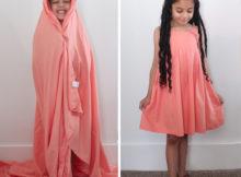 DIY UPCYCLED SHEET TO DRESS sewn by Candice Ayala