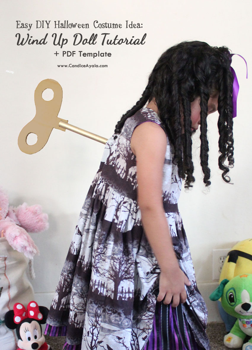 Easy Halloween Costume Diy Tutorial How To Make A Wind Up