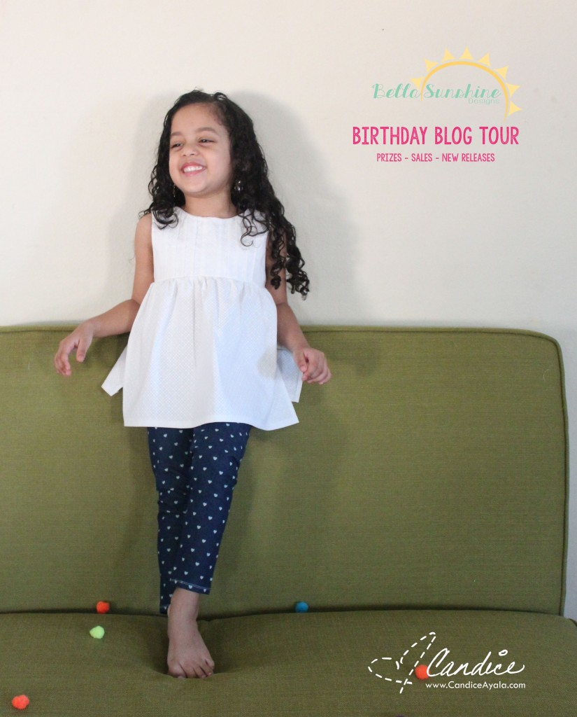 Bella Sunshine Designs Blog Tour Pattern Hack: The Sweet Lily Dress & Tunic and the Bow Tie Leggings & Shorts