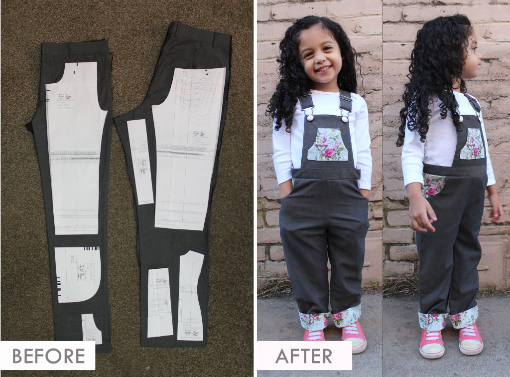 DIY UPCYCLE - Adult Slacks to Toddler Jumper Dungaree