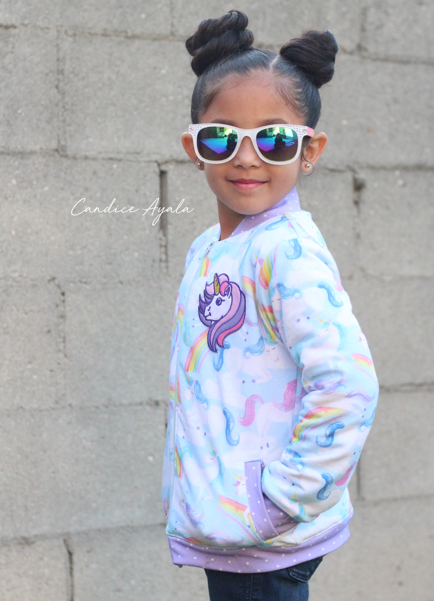 The Ollie Bomber Jacket PDF Pattern by Sew A Little Seam sewn by Candice Ayala.