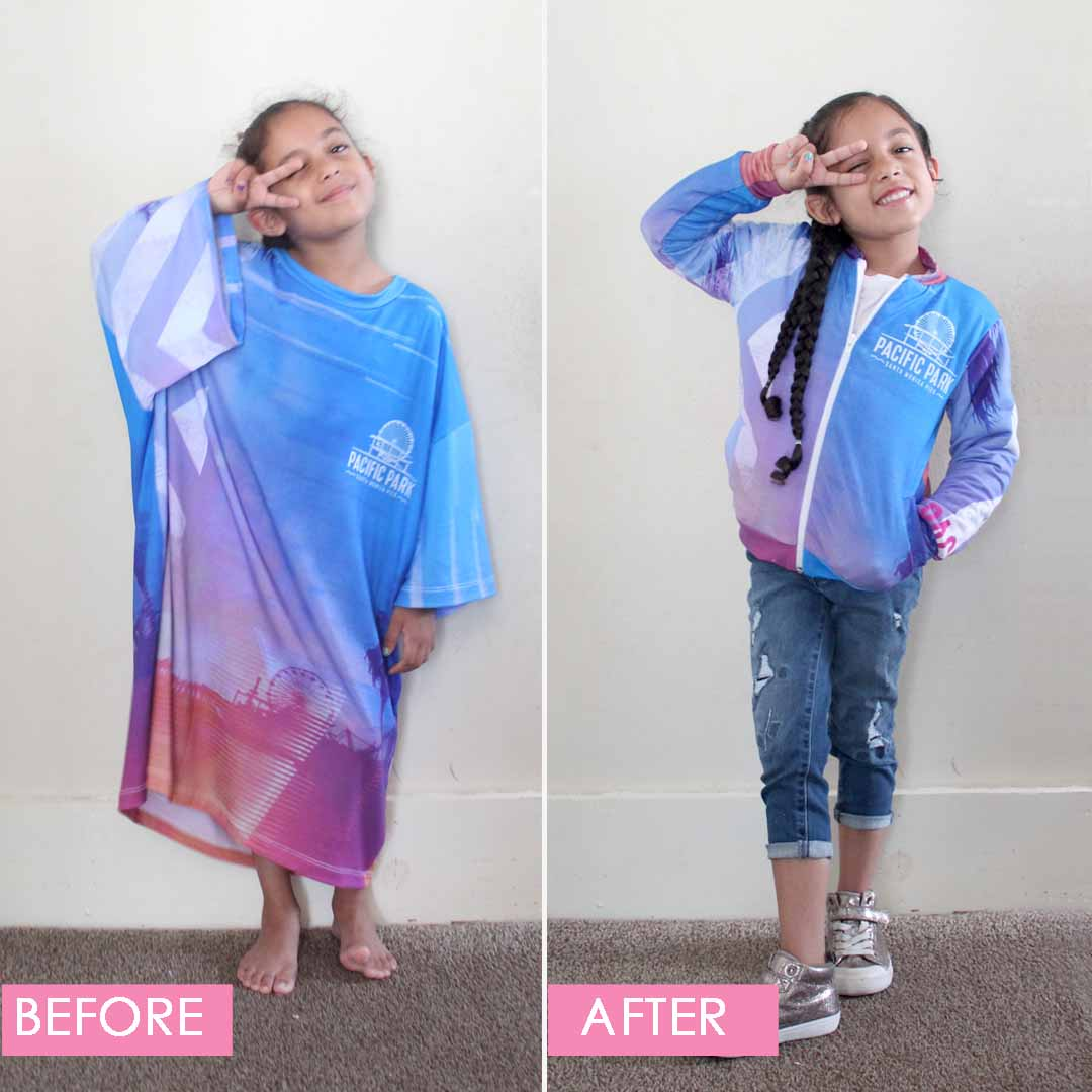 DIY Adult Tshirt to Bomber Jacket by Candice Ayala