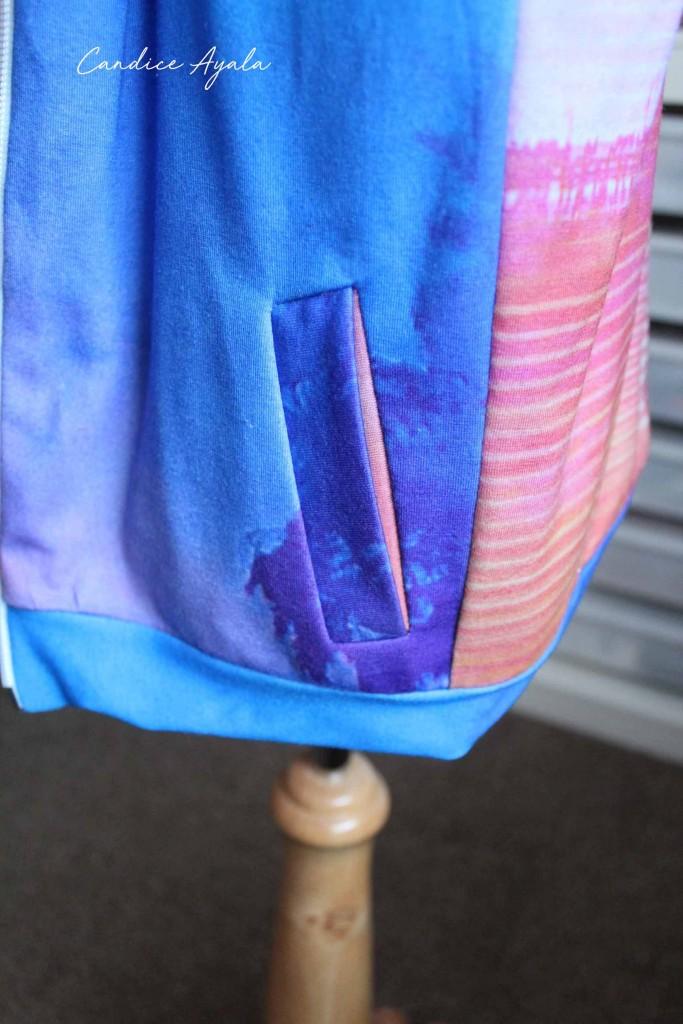 DIY Adult Tshirt to Bomber Jacket by Candice Ayala