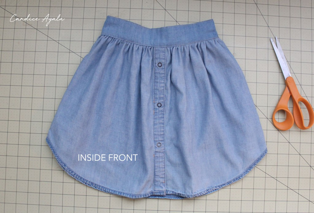 DIY Upcycled Shirt to Skirt Tutorial by Candice Ayala