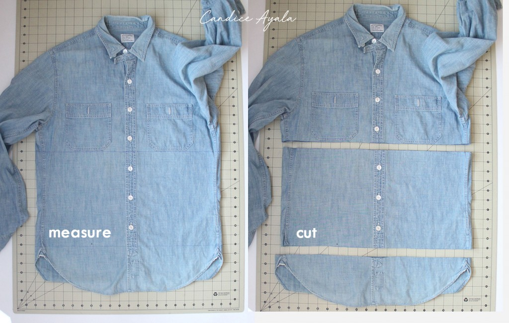 DIY Men's Shirt to Child's Skirt with Pockets