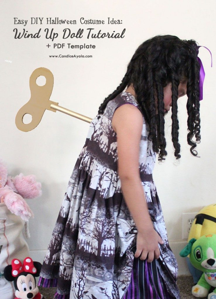 DIY Halloween Wind Up Doll Tutorial.